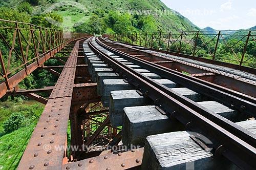 Assunto: Ponte ferroviária Engenheiro Paulo de Frontin, construida em 1897, com 82 m. de comprimento, é a única ponte metálica em curva do mundo  / Local:  Miguel Pereira - Rio de Janeiro (RJ)  / Data: 11/2009