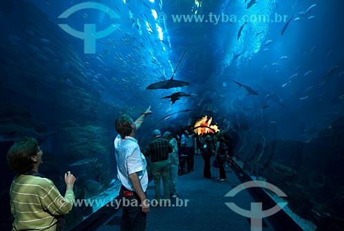 Aquário de água salgada no Dubai Mall  - Emirados Árabes Unidos
