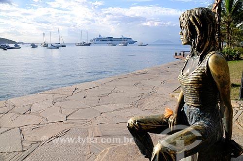 Assunto: Estátua Brigitte Bardot  / Local:  Búzios - Rio de Janeiro - RJ - Brasil  / Data: 2009