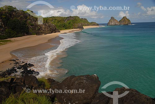 Assunto: Praia do Americano e Morro dos Dois Irmãos  / Local:  Arquipélago de Fernando de Noronha - Pernambuco (PE)  / Data: 2009
