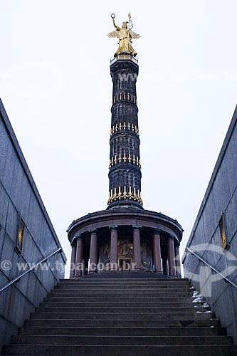 Assunto: Coluna da Vitória (Siegessäule)  / Local:  Berlim - Alemanha  / Data: 19/01/2009