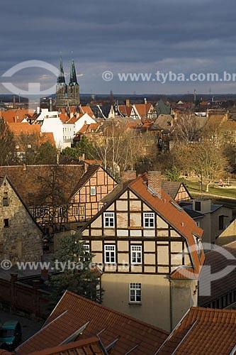 Assunto: Quedlinburg é uma das mais bem preservadas cidades medievais da Europa. Em 1994 a antiga cidade foi declarada um Patrimônio da Humanidade pela UNESCO  / Local:  Quedlinburg - Distrito de Harz - Alemanha  / Data: 24/01/2009