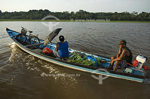 Assunto: Barco no rio Amazonas  / Local:  Itacoatiara - Amazonas (AM) - Brasil  / Data: 11/2007