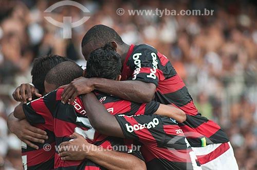 Assunto: Jogadores do flamengo durante a partida Flamengo x Atlético Mineiro no Estádio Governador Magalhães Pinto (Mineirão) / Local: Belo Horizonte - Minas Gerais (MG) - Brasil / Data: 08/11/2009
