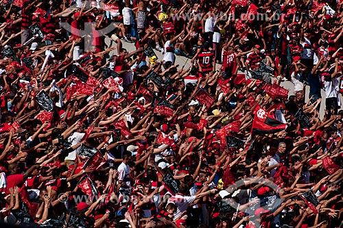 Assunto: Torcedores no Maracanã (Estádio Mário Filho) durante o jogo final do Campeonato Brasileiro de 2009 Grêmio x Flamengo / Local: Maracanã - Rio de Janeiro - RJ - Brasil / Data: 06/12/2009