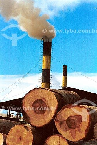Assunto: Desmatamento florestal. Madeireira na Região Norte / Local: Itacoatiara - Amazonas - Brasil / Data: 06/1995