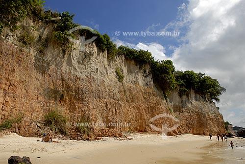 Assunto: Falésias da Praia do Curral, atualmente conhecida como Baía dos Golfinhos  / Local:  Tibau do Sul - Rio Grande do Norte (RN) - Brasil  / Data: 06/2009