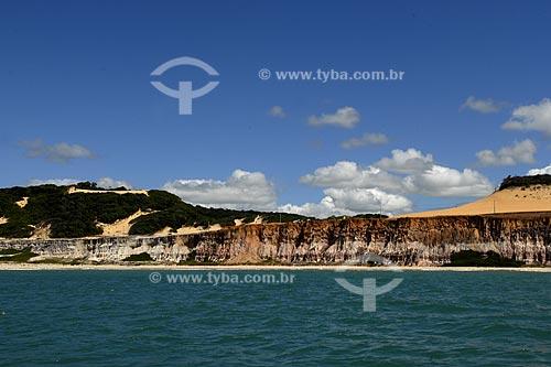 Assunto: Vista das Falésias da Praia das Cacimbinhas  / Local:  Tibau do Sul - Rio Grande do Norte (RN) - Brasil  / Data: 06/2009