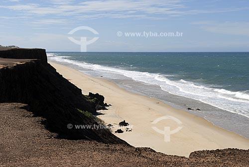 Assunto: Vista da Praia das Minas por cima do Chapadão (Falésias)  / Local:  Tibaú do Sul - Rio Grande do Norte (RN) - Brasil  / Data: 06/2009