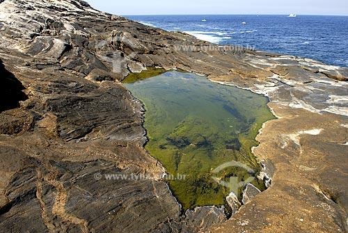 Assunto: Poça de água salgada em pedras da Ilha Rasa  / Local:  Rio de Janeiro - RJ - Brasil  / Data: 09/2009