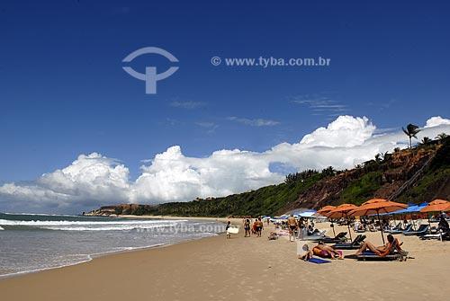 Assunto: Vista da Praia do Amor e suas falésias  / Local:  Tibau do Sul - Rio Grande do Norte (RN) - Brasil  / Data: 06/2009