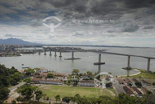 Assunto: Vista da Terceira Ponte, que liga Vila Velha à Vitória  / Local:  Espírito Santo (ES) - Brasil  / Data: 08/2009