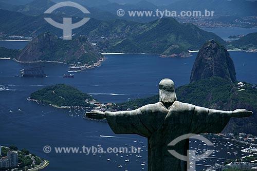 Assunto: Cristo Redentor com o Pão de Açúcar ao fundo / Local: Rio de Janeiro - RJ - Brasil / Data: 11/2009