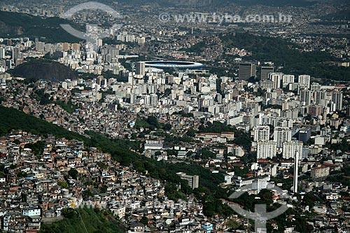Assunto: Vista aérea da Zona Norte do Rio de Janeiro, com o Morro dos Prazeres em primeiro plano e o Maracanã / Local: Rio de Janeiro - RJ - Brasil / Data: 11/2009