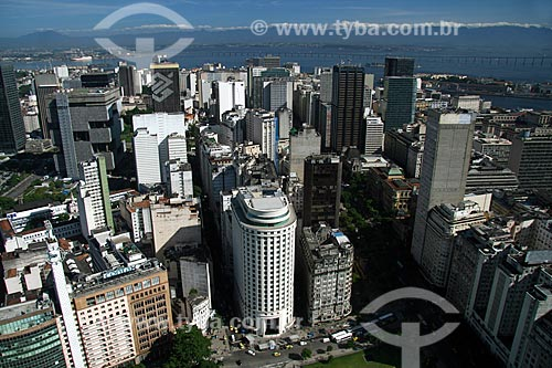 Assunto: Vista aérea do Centro da cidade do Rio de Janeiro / Local: Rio de Janeiro - RJ - Brasil / Data: 11/2009