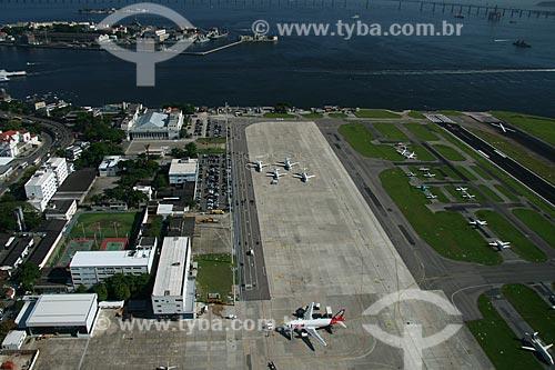 Assunto: Vista aérea do Aeroporto Santos Dumont / Local: Rio de Janeiro - RJ - Brasil / Data: 11/2009
