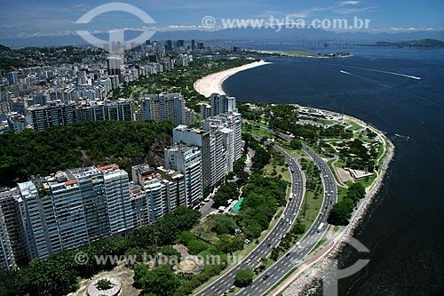 Assunto: Vista aérea da Avenida Infante Dom Henrique, cruzando o Aterro do Flamengo na Zona Sul do Rio de Janeiro / Local: Rio de Janeiro - RJ - Brasil / Data: 11/2009
