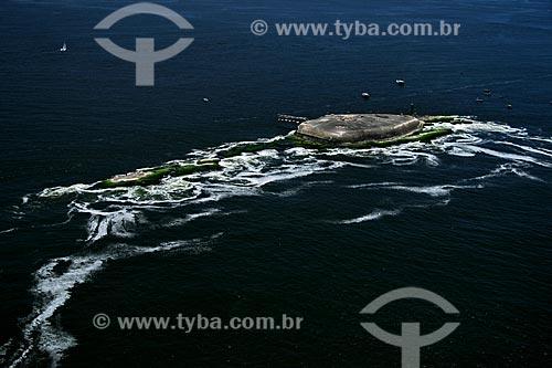Assunto: Vista aérea do Forte Tamandaré da Laje, na Ilha da Laje, na boca da barra da Baía de Guanabara / Local: Rio de Janeiro - RJ - Brasil / Data:11/2009