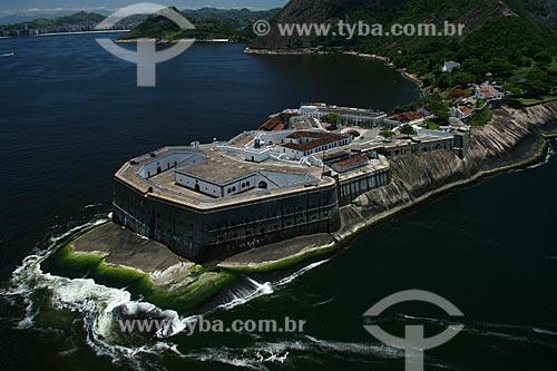 Assunto: Vista aérea da Fortaleza de Santa Cruz da Barra, na boca da barra da Baía de Guanabara / Local: Jurujuba - Niterói - RJ - Brasil / Data: 11/2009