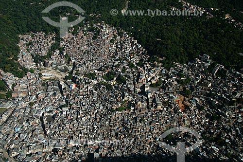 Assunto: Vista aérea do bairro da Rocinha  / Local:  Rio de Janeiro - RJ - Brasil  / Data: 11/2009
