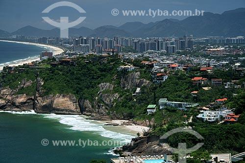 Assunto: Vista aérea da praia da Joatinga  / Local:  Rio de Janeiro - RJ - Brasil  / Data: 11/2009