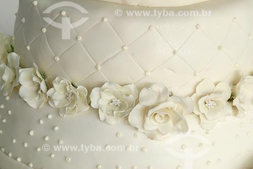 Assunto: Detalhe de bolo de casamento  / Local:  / Data: 08/2008