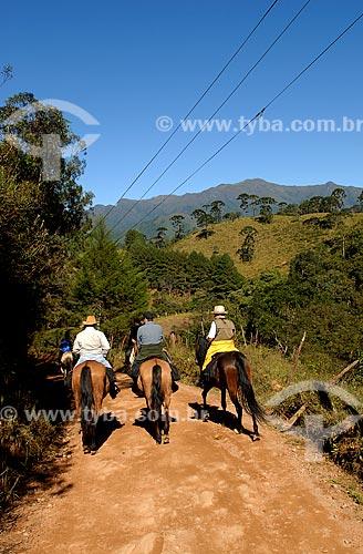 Assunto: Cavalgada de Visconde de Maua (RJ) a Fragaria (MG) em cavalos de raca Campolina, pela Serra da Mantiqueira  / Local:  Entre Rio de Janeiro e Minas Gerais - Brasil  / Data: 05/2009