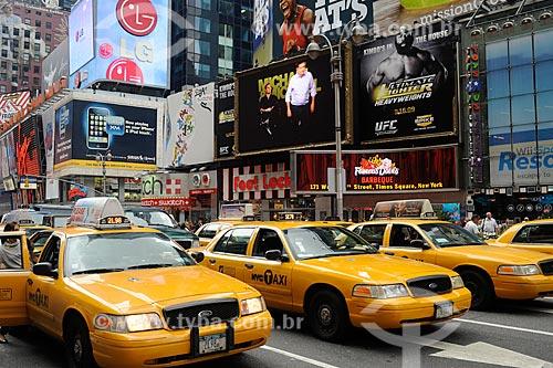 Assunto: Taxis no Times Square / Local: Nova Yorque - Estados Unidos da América (EUA) / Data: julho 2009