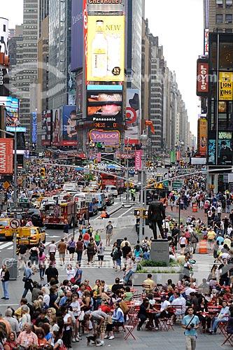 Assunto: Turistas na Times Square / Local: Nova Yorque - Estados Unidos da América (EUA) / Data: julho 2009