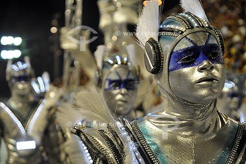 Assunto: Desfile da Escola de Samba Portela  / Local:  Rio de Janeiro - RJ - Brasil  / Data: 02/2010