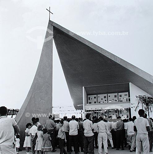 Assunto: Construção de Brasília - Igreja Nossa Senhora de Fátima  / Local:  Brasília - Distrito Federal - Brasil  / Data: 1959