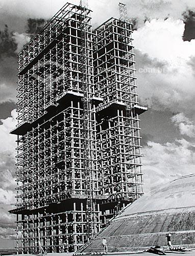 Assunto: Construção de Brasília - Congresso Nacional  / Local:  Brasília - Distrito Federal - Brasil  / Data: 1959