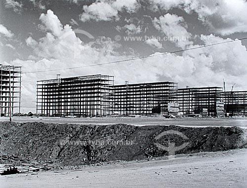 Assunto: Construção de Brasília - Esplanada dos Ministérios  / Local:  Brasília - Distrito Federal - Brasil  / Data: 1959