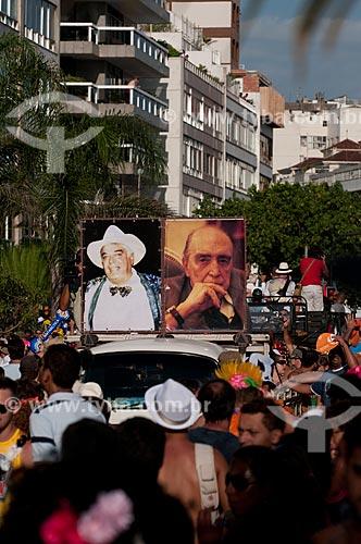 Assunto: Oscar Niemeyer é homenageado no bloco de carnaval de rua Banda de Ipanema, fundado por Albino Pinheiro  / Local:  Ipanema - Rio de Janeiro - RJ - Brasil  / Data: 13/02/2010