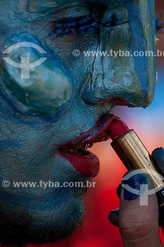 Assunto: Pessoa fantasiada no bloco de carnaval de rua Banda de Ipanema  / Local:  Ipanema - Rio de Janeiro - RJ - Brasil  / Data: 13/02/2010