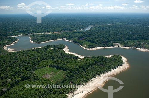 Assunto: Floresta amazônica às margens de rios de água preta, ao sul de Nova Olinda do Norte  / Local:  Amazonas (AM) - Brasil  / Data: 011/2007