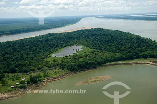 Assunto: Ilha no rio Madeira, em frente à Nova Olinda do Norte  / Local:  Amazonas (AM) - Brasil  / Data: 11/2007
