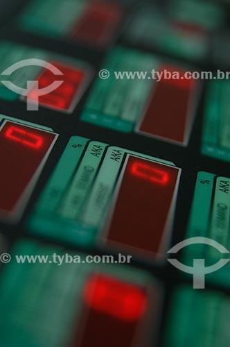 Assunto: Usina Termelétrica - painel da sala de controle  / Local:  Juiz de Fora - MG - Brasil  / Data: 15/01/2008
