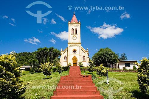 Assunto: Igreja Luterana no Distrito de Lagu / Local: Mondaí - Santa Catarina - Brasil / Data: 02/2010