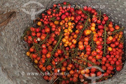 Assunto: Paneiro cheio de guaranás / Local: Parintins - Amazonas (AM) - Brasil / Data: 15/10/2009