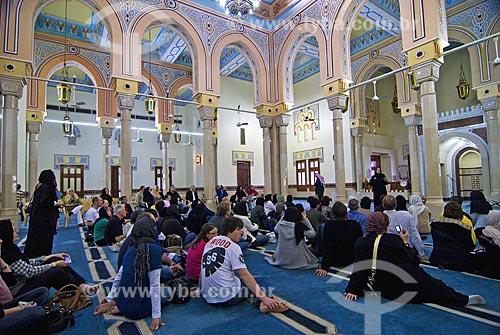 Assunto: Palestra sobre o islamismo proferida pelo sacerdote para visitantes não islamitas na Mesquita de Jumeirah  / Local: Dubai - Emirados Árabes  / Data: Janeiro 2009