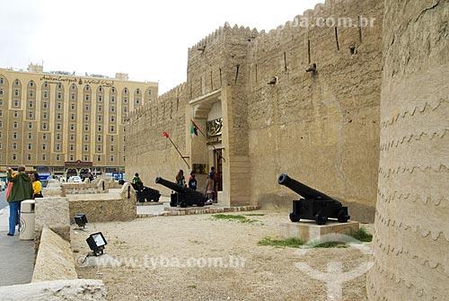 Assunto: Portal de entrada do Museu Histórico de Dubai - vista externa da antiga fortaleza  / Local: Dubai - Emirados Árabes  / Data: Janeiro 2009