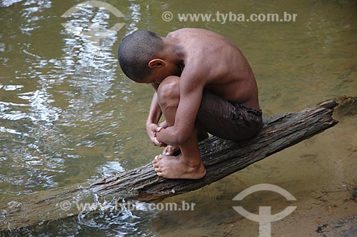 Assunto: Criança do Quilombo do Campinho  / Local:  Paraty - Rio de Janeiro - RJ - Brasil  / Data: 11/2007