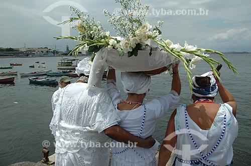 Assunto: Homenagens para Iemanjá na Praça XV  / Local:  Centro - Rio de Janeiro - RJ - Brasil  / Data: 02/2008