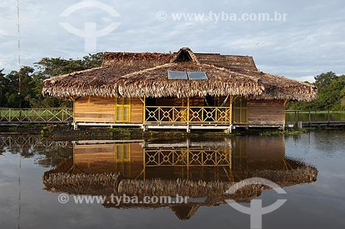 Assunto: Pousada Uacari, no lago Mamirauá, na Reserva de Desenvolvimento Sustentável Mamirauá  / Local:  Alvarães - Amazonas (AM) - Brasil  / Data: 09/03/2007