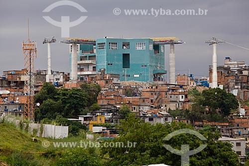 Assunto: Estação Baiana do teleférico no Complexo do Alemão - Programa de Aceleração do Crescimento - PAC - Complexo do Alemão  / Local:  Rio de Janeiro - RJ - Brasil  / Data: 20/05/2010
