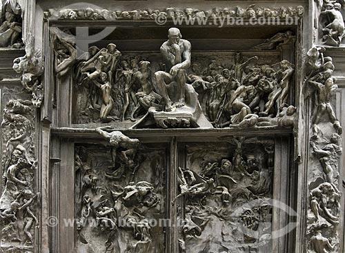 Assunto: Detalhe da Porta do Inferno no Museu Rodin / Local:  Paris - França / Data: 13/09/2009
