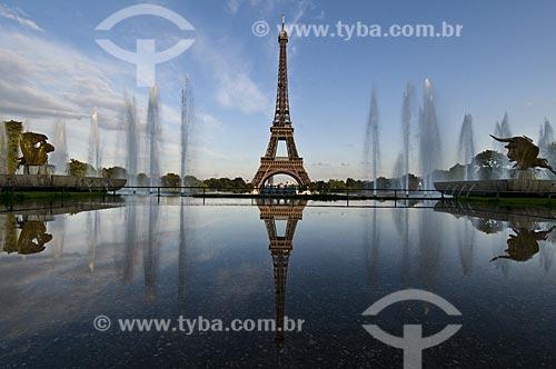 Assunto: Torre Eiffel e Jardins de Trocadero / Local: Paris - França / Data: 15/09/2009