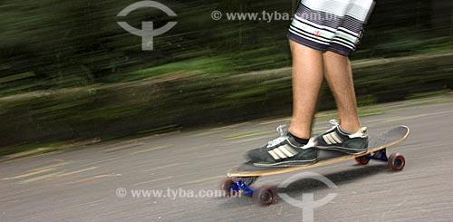 Assunto: Downhill de skate na estrada das Paineiras / Local: Rio de Janeiro - RJ - Brasil / Data: 03/2010