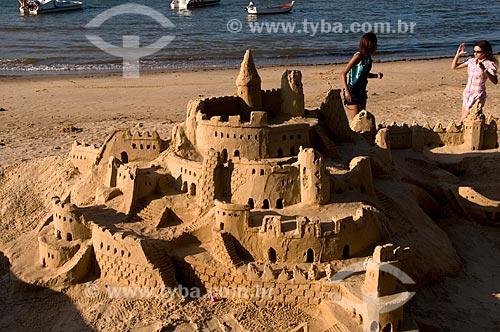 Assunto: Castelo de areia na Praia da Armação, na Orla Bardot  / Local:  Buzios - Rio de Janeiro - RJ - Brasil  / Data: 12/2008